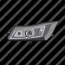 auto part, bulb, car, headlight, light, part, spare icon