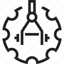 automatic, industry, machines, manufacturing, production icon