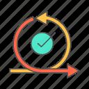 agile, check, iteration, scrum, sprint icon