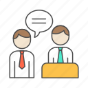 employer, human, interview, resources icon