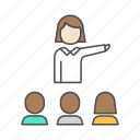 hierarchy, lead, manager icon