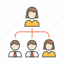 hierarchy, leader, teamwork icon