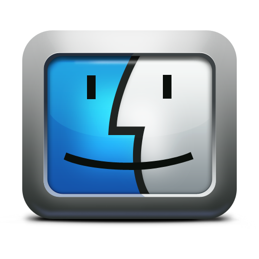 Apple face finder mac os x mettalic icon icon search engine - Apple icon x ...