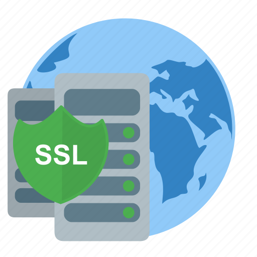 protect, server, ssl, vds, vps, web, world icon