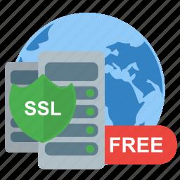 free, protect, server, ssl, web icon