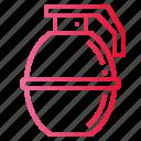 blast, bomb, grenade, hand icon