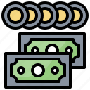 business, cash, coins, currency, money, stack