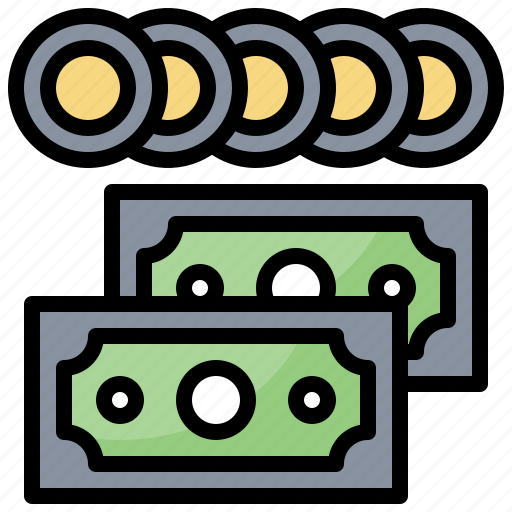 Business, cash, coins, currency, money, stack icon - Download on Iconfinder