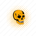bone, comics, death, halloween, head, medical, skull icon