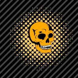 bone, comics, death, halloween, head, medical, skull icon