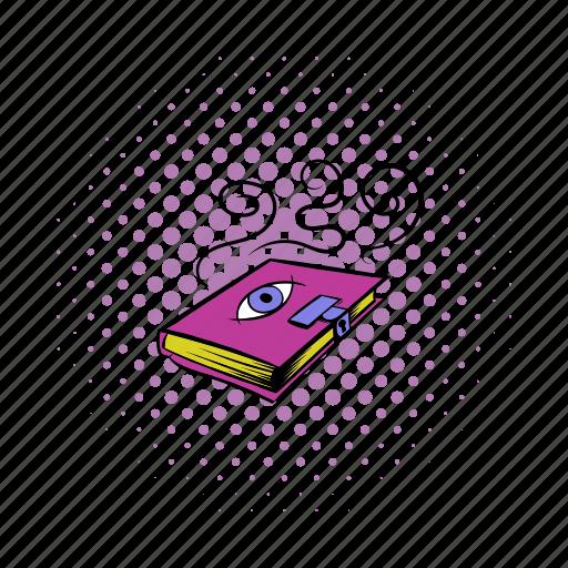 book, comics, literature, magic, old, open, paper icon