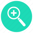 business, document, file, find, magnifier, search, type icon