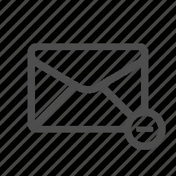delete, deselect, mail, remove icon