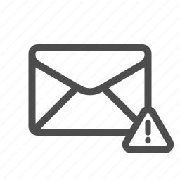 email, mail, warning icon