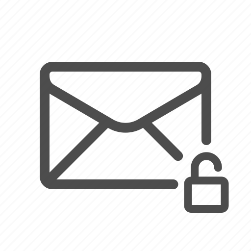 email, mail, unencrypted, unlocked icon