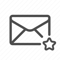 favorite, mail, star, starred icon