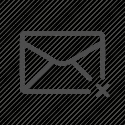 delete, email, mail, remove, unsent icon