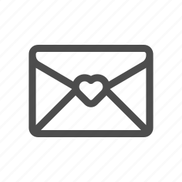 email, letter, love, mail icon