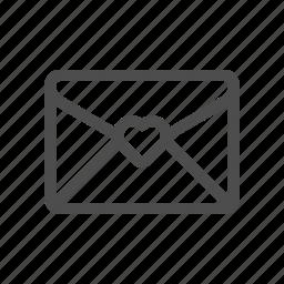 favorite mail, love letter, romance, wedding invitation icon