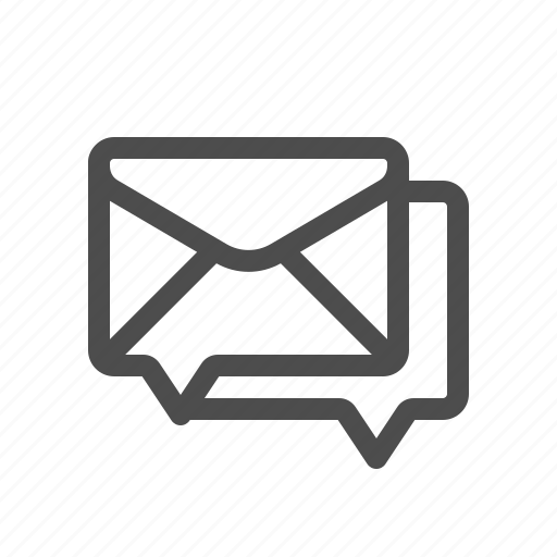 chat, email, forum, mail icon