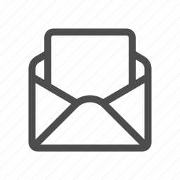 blank, email, mail icon