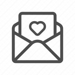 email, letter, love, mail, open icon