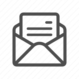 email, letter, mail, open icon