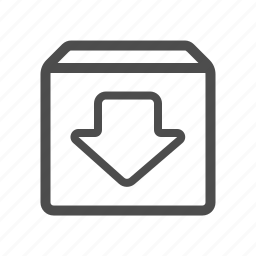 archieve, box, download icon
