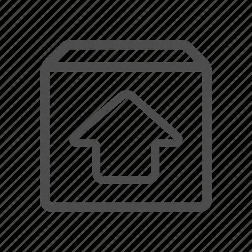 box, unarchieve, upload icon