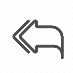 answer, arrow, reply all, response icon