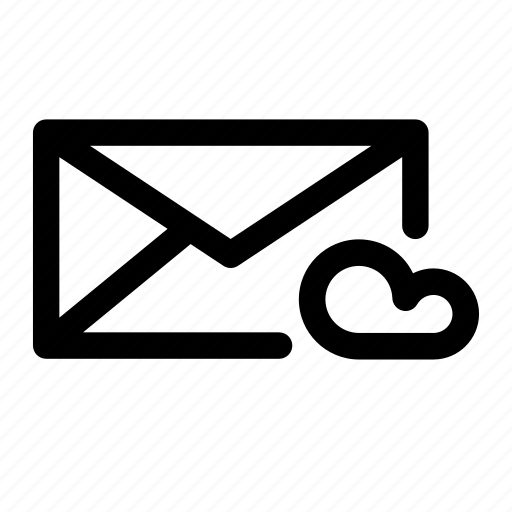cloud, email, envelope, letters, mail, mailing, message icon