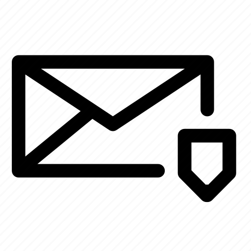 email, envelope, letters, mail, mailing, message, shield icon