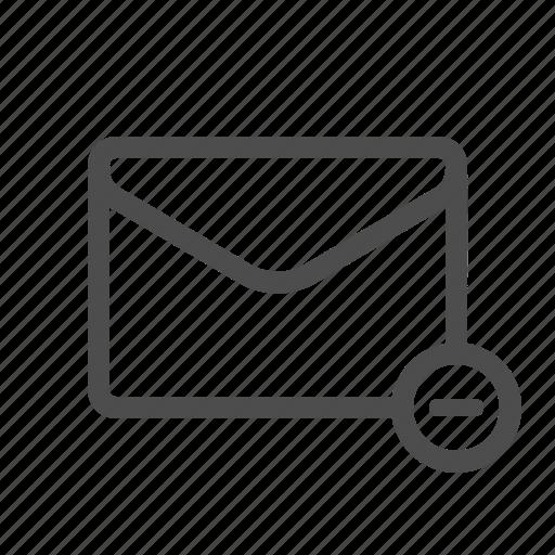 delete, email, mail, remove icon