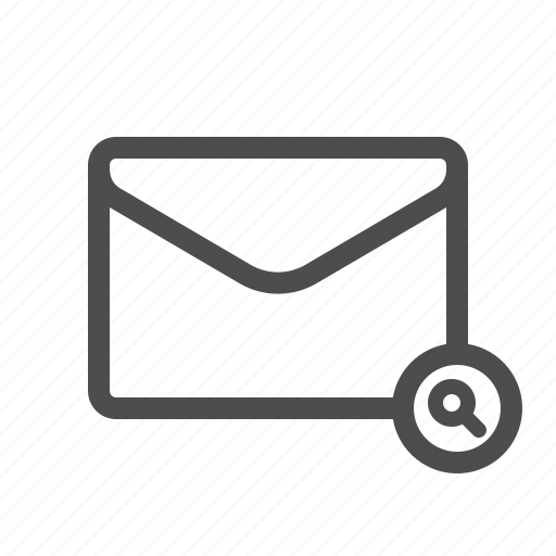 email, look up, mail, search icon