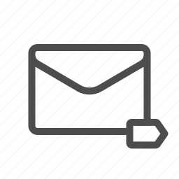 label, mail icon