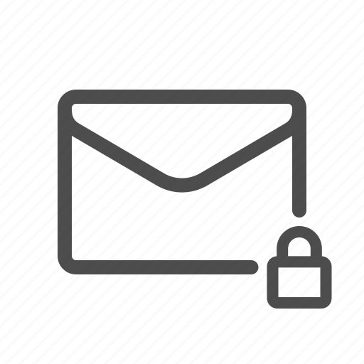 email, encrypted, locked, mail icon