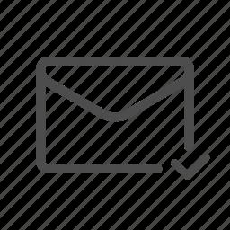 mail, read, sent icon