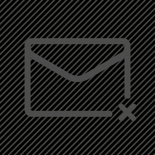 mail, remove, unsent icon