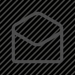 empty, envelope icon