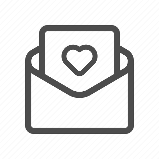letter, love, open icon