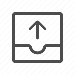 outbox, upload icon