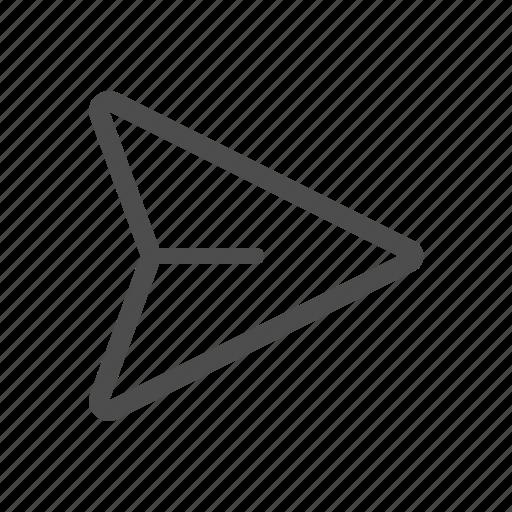 paper plane, send icon