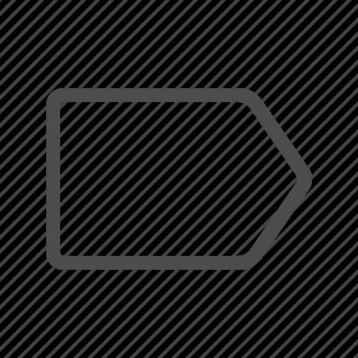 label, price tag icon