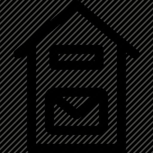 box, destination, home, letter, mailbox, message icon
