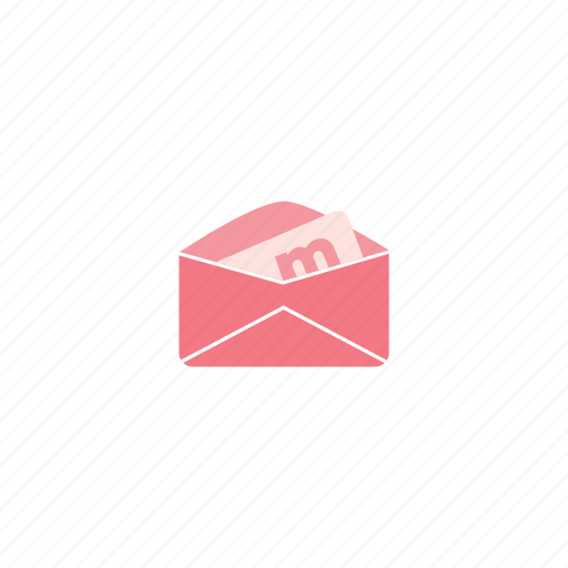 letter, mail, post, received icon