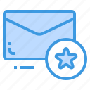 email, envelope, letter, message, star icon