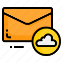 cloud, email, envelope, letter, message icon