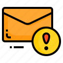email, envelope, information, letter, message icon
