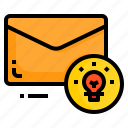 email, envelope, idea, innovation, letter, message icon