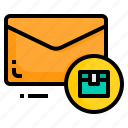 email, envelope, letter, logistic, message icon